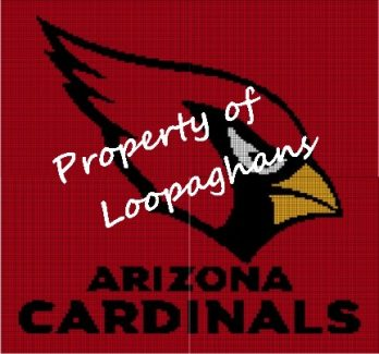 Arizona Cardinals Crochet Pattern Afghan Graph