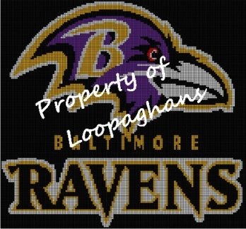 Baltimore Ravens Crochet Pattern Afghan Graph