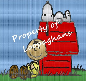 Charlie Brown and Snoopy Crochet Pattern Afghan Graph