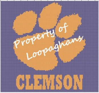 Clemson Tigers Crochet Pattern Afghan Graph