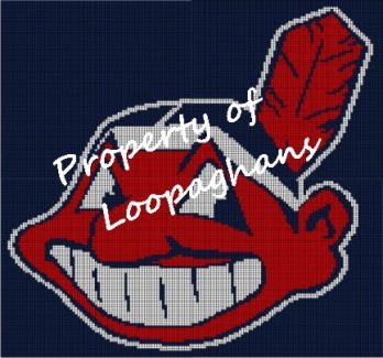 Cleveland Indians Crochet Pattern Afghan Graph