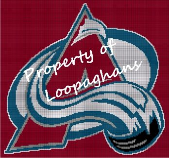 Colorado Avalanche Crochet Pattern Afghan Graph