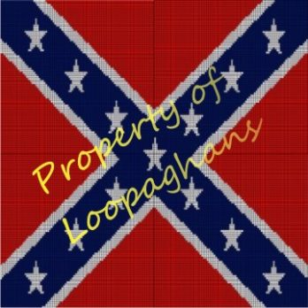 Confederate Flag Crochet Pattern Afghan Graph