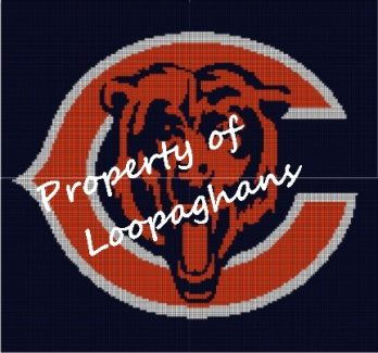 Chicago Bears Crochet Pattern Afghan Graph