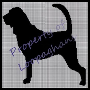 Dog Silhouette Crochet Pattern Afghan Graph
