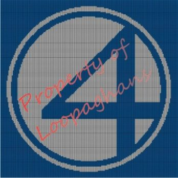 Fantastic Four Crochet Pattern Afghan Graph