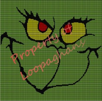 The Grinch Crochet Pattern Afghan Graph