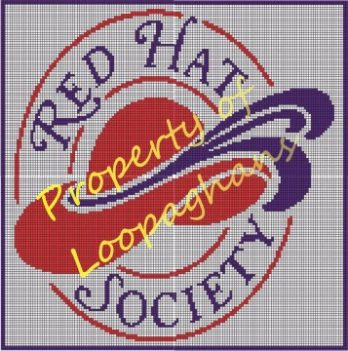 Red Hat Society Crochet Pattern Afghan Graph