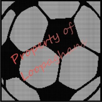 Soccer Ball Crochet Pattern Afghan Graph