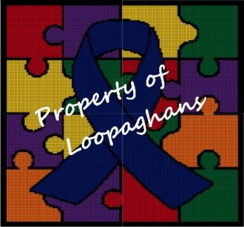 Autism Support Ribbon Crochet Pattern Afghan Graph