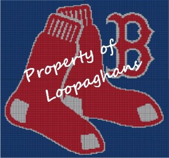 Boston Red Sox Crochet Pattern Afghan Graph