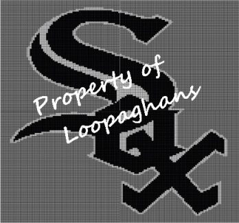 Chicago White Sox Crochet Pattern Afghan Graph