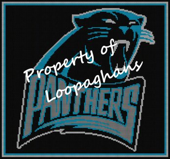 Carolina Panthers Crochet Pattern Afghan Graph