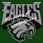 Philadelphia Eagles Crochet Pattern Afghan Graph
