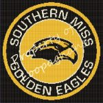 Southern Miss Golden Eagles Crochet Pattern Afghan Graph